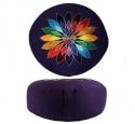 Violet veelkleurige bloem 33x16